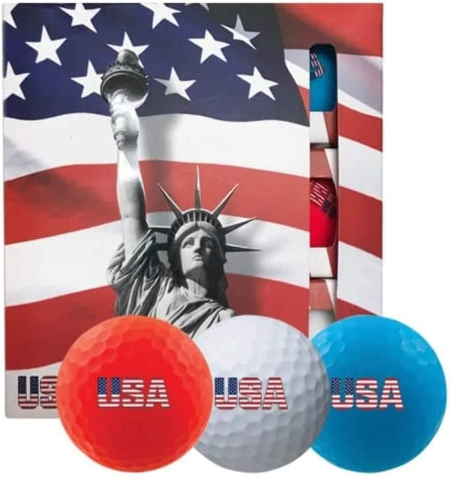 Volvik USA Special Edition Golf Balls #1-#4 9-Ball Pack