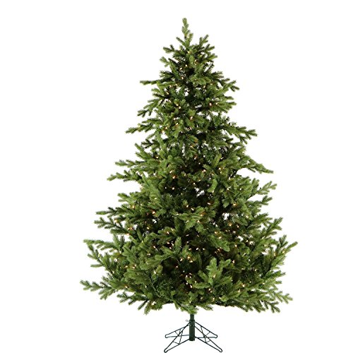- Fraser Hill Farm 9 Ft. Foxtail Pine Christmas Tree with Clear LED String Lighting, 9.0