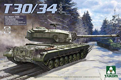 Takom 2065 T30/34 US Heavy Tank 1:35 Scale - Plastic Model Kit