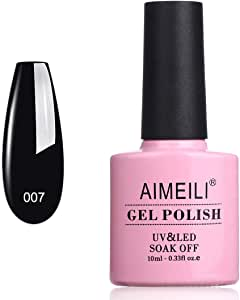 AIMEILI Soak Off UV LED Gel Nail Polish - Blackpool (007) 10Ml