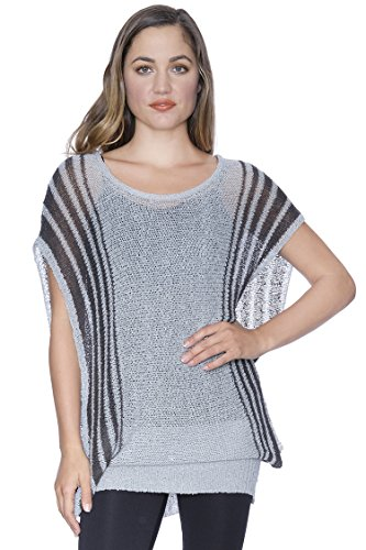 Dolman Sleeve Tunic Sweater - Dolman Sleeve Tunic Sweater Grey L