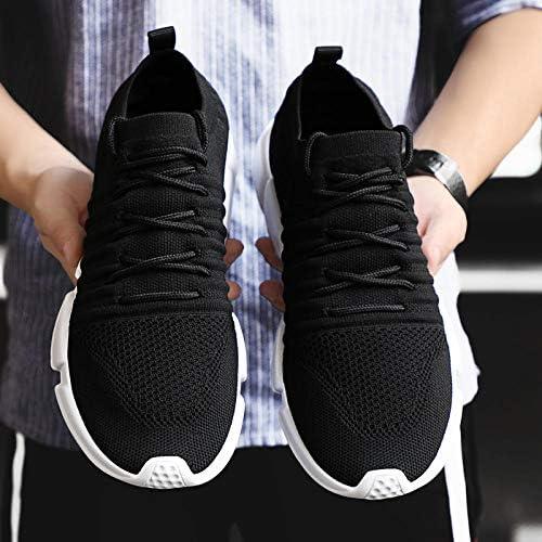 JFHGNJ Hommes Chaussures décontractées Baskets Homme Baskets de Marche Respirantes Léger Chaussures Hommes-Noir_8