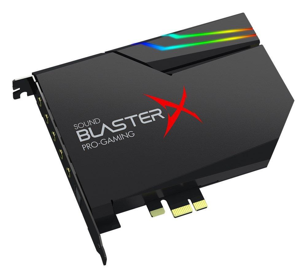 Creative - Sound BlasterX AE-5 - Tarjeta de sonido interna para gaming PCIe, DAC clase SABRE/amplificador de auriculares (16-600 Ohm) ncluye una tira ...