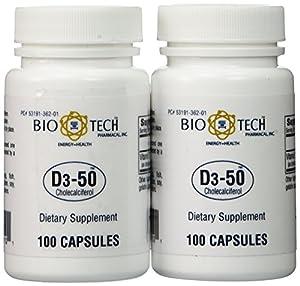 Bio-Tech - D3-50 50,000 IU 200