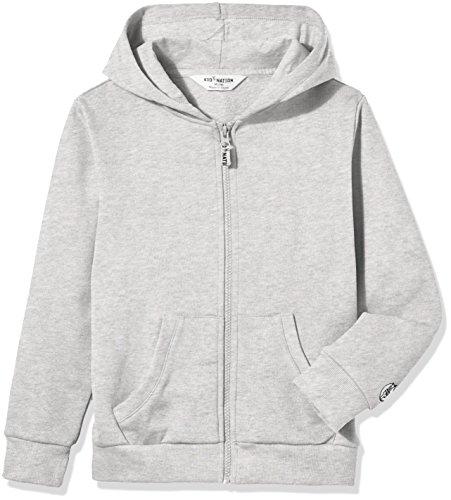 id Brushed Fleece Zip Hooded Sweatshirt in 8 Color M Gray 01 ()