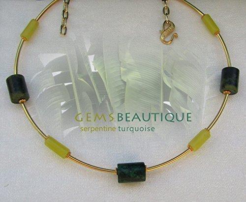 GemsBeautique Elegant Gold Gemstone 15.5