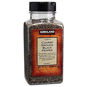 Kirkland Signature Coarse Black Pepper 4 - pack Kosher Certified by OU