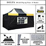 10'x15′ Pop up Canopy Wedding Party Tent Gazebo EZ Black/Yellow – F Model Commercial Frame By DELTA Canopies Review