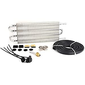 speedmotor universal Full Kit de Radiador Enfriador Auto de aceite de transmisión de mando de aluminio, plata: Amazon.es: Coche y moto