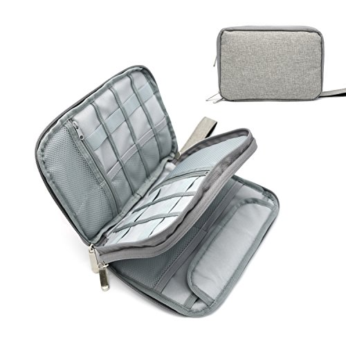 Portable Electronic Accessories Storage Case - Home and Travel Organizer for iPad mini, Tablets Up To 8