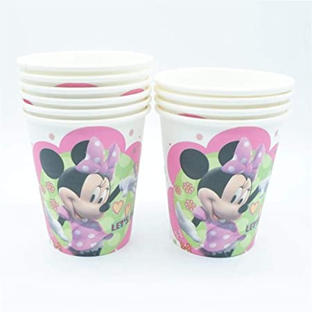 XIAOYUTOU 10 unids Minnie Mickey Mouse Taza de Papel de ...