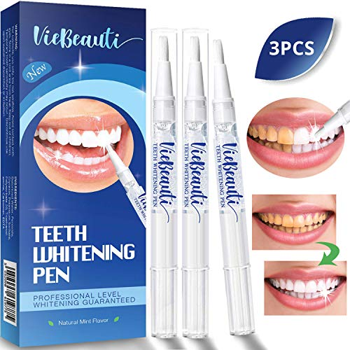 - Teeth Whitening Pen(3 Pack), Safe 35% Carbamide Peroxide Gel, 20+ Uses, Effective, Painless, No Sensitivity, Travel-Friendly, Easy to Use, Beautiful White Smile, Natural Mint Flavor