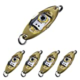 Dr.Fish Fishing Lure Assorted 5 Flash LED Light Spoon Enhancer Attractant Bass Fishing Trolling Underwater Deep Drop Tackle Lamp