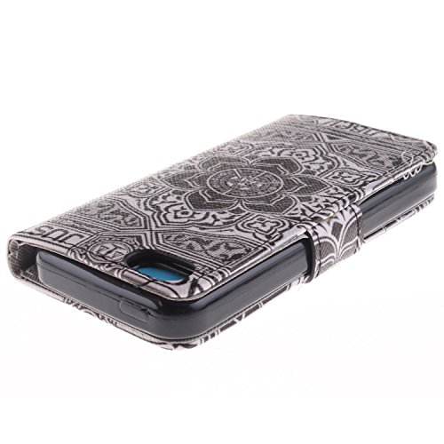 MOONCASE iPhone 5C Case Magnetverschluss [Painted Patterns] Leder Tasche Flip Case Cover Schutzhülle Etui Hülle Schale für iPhone 5C -LK16