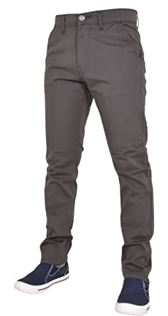 Männer Designer EZ348 Enzo Branded Slim Fit Stretch ZIP Chino Jeans  Baumwolle Denim  Amazon.de  Bekleidung 7857536b3e