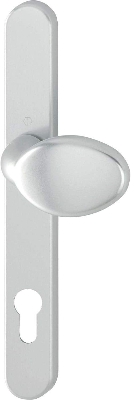 Hoppe 2389259 PZ92 - Botón exterior (atornillado oculto, aluminio anodizado), color plateado