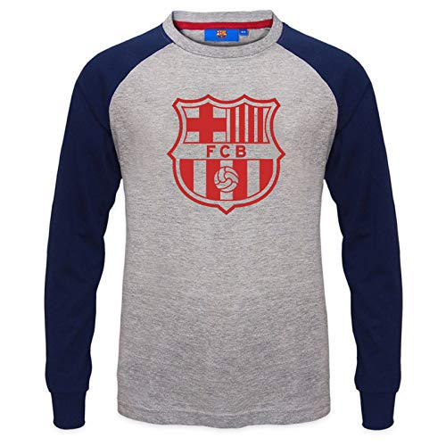 FC Barcelona – Camiseta oficial con mangas raglán – Para niños – Con el escudo del club