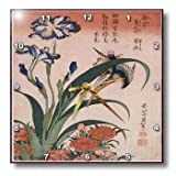 Cheap 3dRose dpp_174575_2 Image of Textured Painting of Flower and Bird-Wall Clock, 13 by 13-Inch