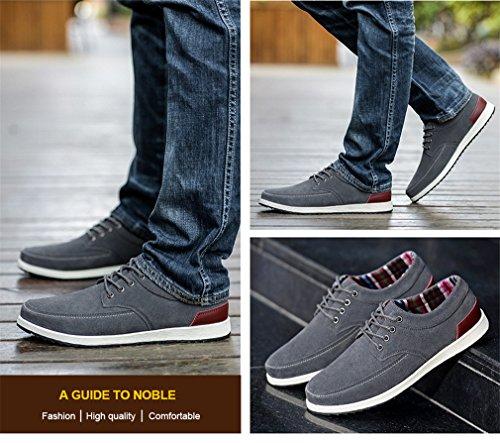 daim Mocassins Grey Mocassins Cuir Mode Sneakers Printemps Chaussures Adulte Lumino Casual en Homme Hommes Hommes Chaussures 8Z68x