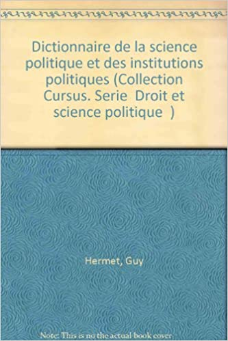 En ligne téléchargement Dictionnaire de la science politique et des institutions politiques pdf