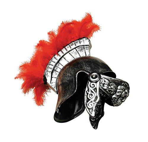 Roman Helmet & Plume Deluxe Plas
