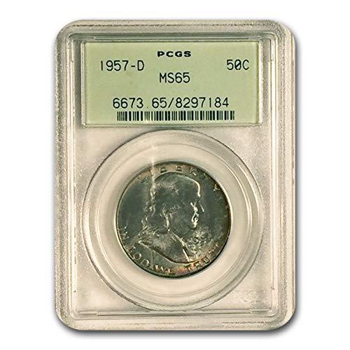 1957 D Franklin Half Dollar MS-65 PCGS Half Dollar MS-65 ()