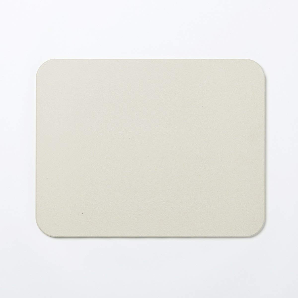 Kyūjōto Bathroom Mat, Gray - 14 x 18 x 0.4 inches & 350 x 450 x 10 mm