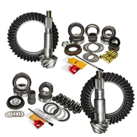 Nitro (GPJKNONRUB-4.56) Thick Front and Rear 4.56 Ratio Gear Package Kit for Jeep Wrangler JK - 4.56 Gears