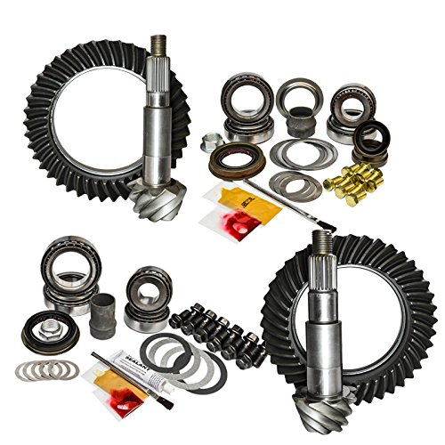 56) Thick Front and Rear 4.56 Ratio Gear Package Kit for Jeep Wrangler JK (Jeep Wrangler Pinion)