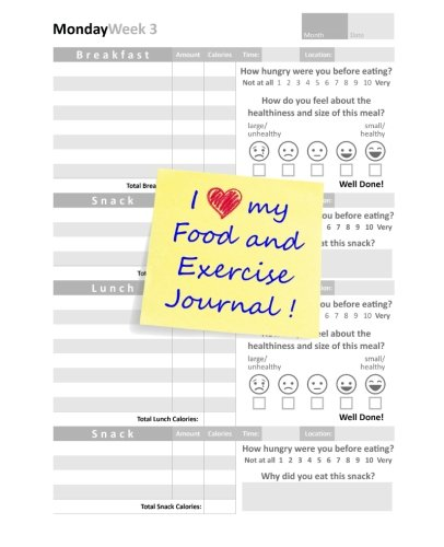 I Love my Food and Exercise Journal cover