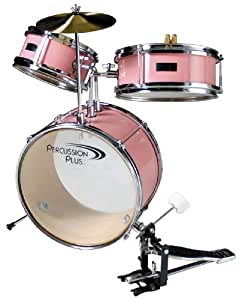 Percussion Plus Children's/Kids Drum Set (SEAT NOT INCLUDED) - Pink