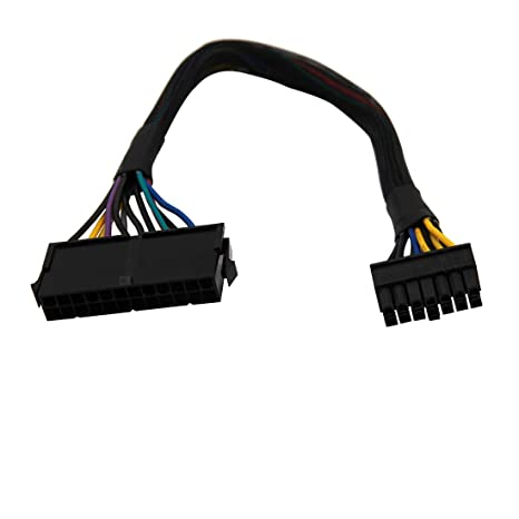 30cm 24 Pin to 10 Pin ATX PSU Main Power Supply Adapter Braided Sleeved Cable for IBM//Lenovo PCs Motherboard and Servers 12-inch