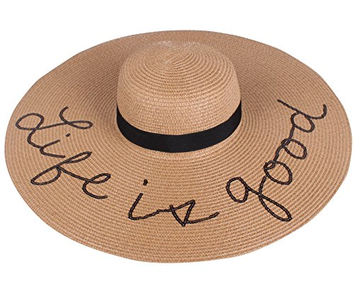 A&O International Embroidered Sun Floppy Hat