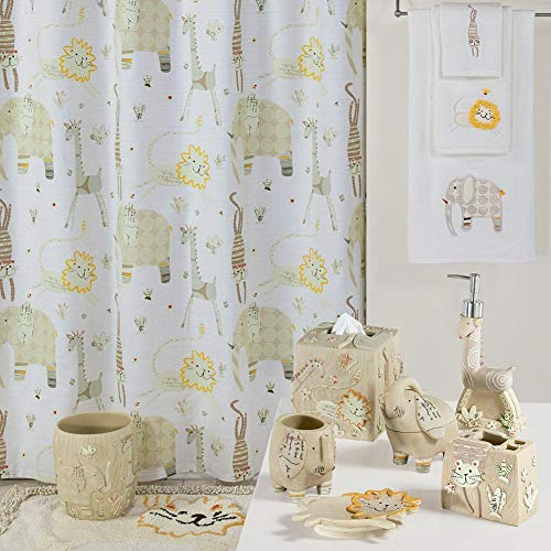 - DS BATH Animal Crackers Shower Curtain,Polyester Shower Curtain,Beige Shower Curtains for Bathroom,Print Decorative Waterproof Bathroom Curtains,72