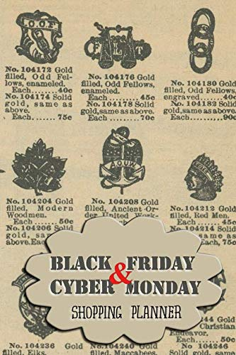 Black Friday & Cyber Monday Shopping Planner: Vintage Gold jewelry Mail Order Catalogue Cover (Shopping Planners)