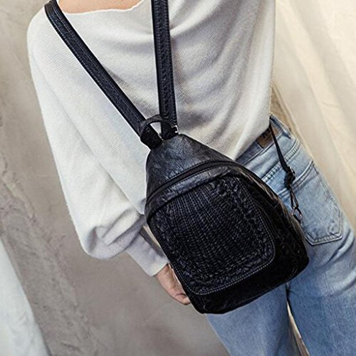 Wash Bag Y D 7 Black Sports amp;F Handbags 23 31 Chest Bag Shoulder Shoulder Cm Purpose Weave Multi PqRxPrw