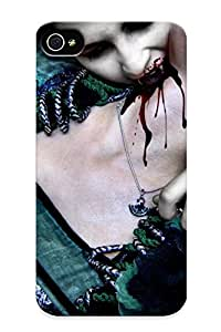 New Shockproof Protection Case Cover For Iphone 4/4s/ Dark Horror Fantasy Gothic Vampire Evil Gore Blood Macabre Men Women Mood Case Cover