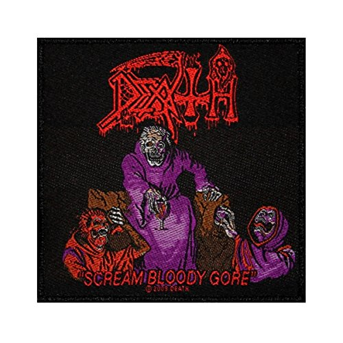 Death Scream Bloody Gore Patch Album Art Metal Band Music Woven Sew On -