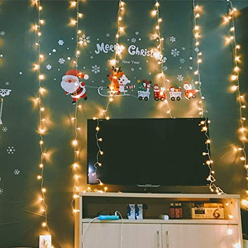 MZD8391 Curtain String Lights, 9.8 X 9.8ft 304 LED Starry Fairy Lights for Wedding, Bedroom, Bed Canopy, Garden, Patio, Outdoor Indoor (Warm White) by MZD8391 (Image #6)