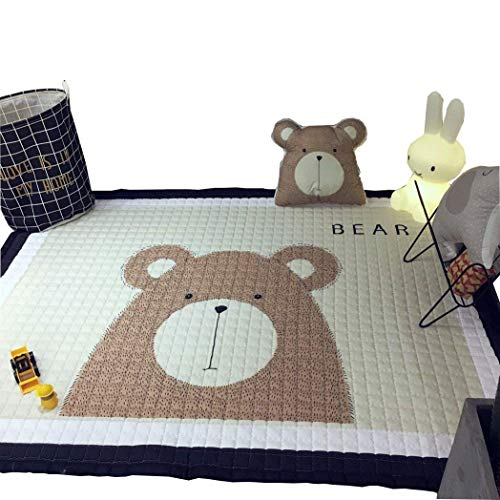 IHEARTYOU Baby Crawling Mat Cute Bear Play Carpet Children Bedroom Decor Living Room Rugs
