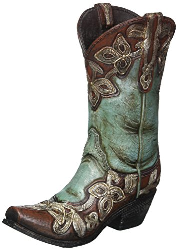 Turquoise Cowgirl Boot Vase -