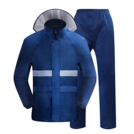 ZYMNL-YY Chaqueta Impermeable para Hombre y Pantalones Pantalones ...