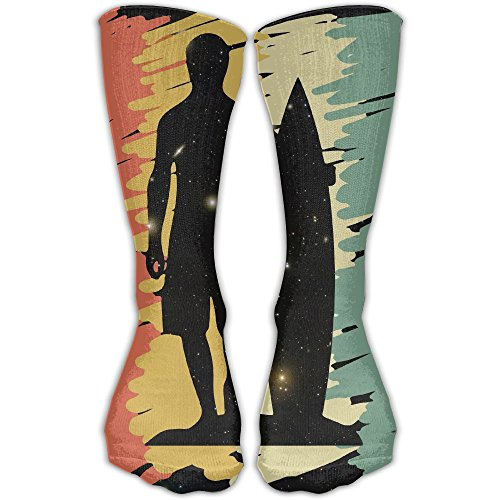 Surfer Surfing Vintage Silhouette Personalized Socks Sport Athletic Stockings 30cm Long Sock For Men Women
