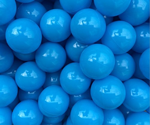 Justfund 100pcs All Blue Soft Plastic Ocean Balls BPA Free Crush Proof Plastic Ball Baby Kid Toys Swim Pit Toys Ball for Ball Pit Baby Kids Tent by Justfund