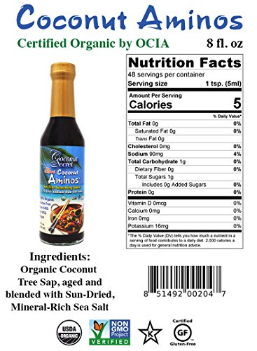Coconut Secret Coconut Aminos Sauce Organic 8 Oz 1 Pack