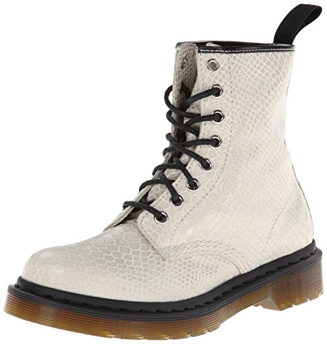 Dr. Martens Womens 1460 W 8 Eye Boot Off White