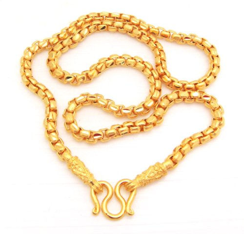 Chain 22K 23K 24K THAI BAHT YELLOW GOLD GP NECKLACE 20 INCH