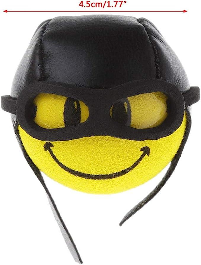 Adorno de techo amarillo pequeño lindo divertido de dibujos animados muñeca antena bolas de felpa EVA espuma aérea Toppers decoración estilo coche