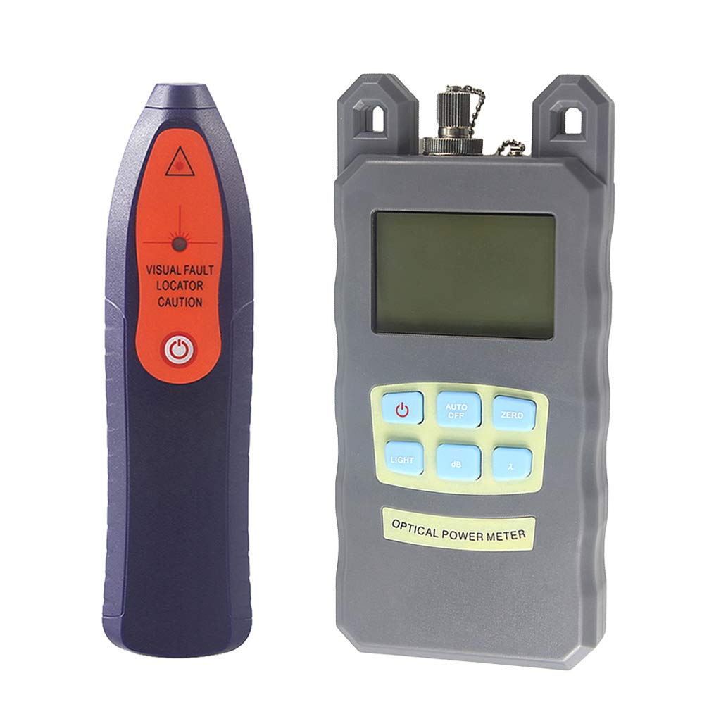 Baosity 1Set Fiber Optic Cable Tester Optical Power Meter with Sc & Fc Connector Fiber Tester +30mW Visual Fault Locator for CATV Test,CCTV Test