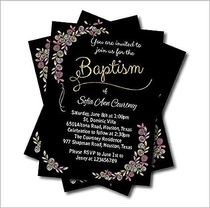 amazon com turnon 20pcs lot vintage baptism invitation baby shower